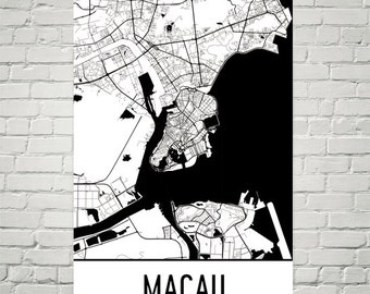 Macau Map, Macau Art, Macau Print, Macau Poster, Macau Wall Art, Macau Gift, Macau Decor, Macau Map Art, Macau Map Print, Macau Art Print
