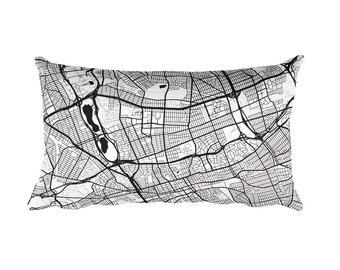 Queens Pillow, Queens Decor, Queens Throw Pillow, Queens Gift, Queens Map, Queens Art, Queens New York, Queens NY, Queens Throw, Cushion