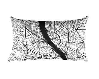Budapest Pillow, Budapest Decor, Budapest Cushion, Budapest Throw Pillow, Budapest Gift, Budapest Hungary Map, Budapest Art, Budapest, Throw