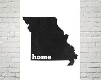 Missouri Home, Map of Missouri, Missouri Map, Missouri State, Missouri Art, Missouri Print, Missouri Wall Art, Missouri Sign, Decor, Poster