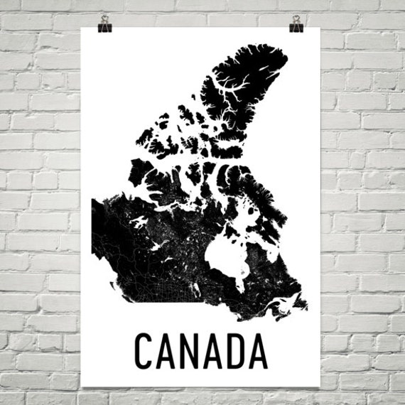 Canada Map Map of Canada Canada Print Canada Wall Art