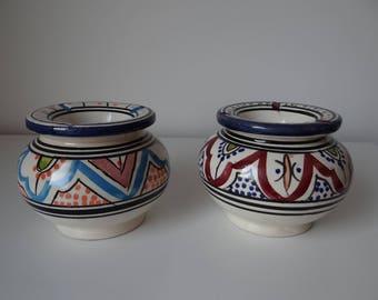 Handmade Moroccan ashtray in pottery - SAFI