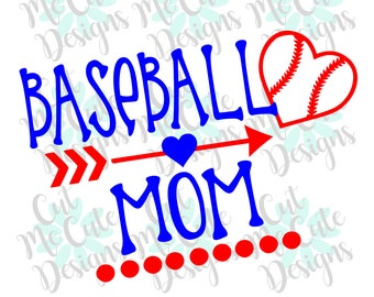 SVG DXF PNG cut file cricut silhouette cameo scrapbooking Baseball Mom