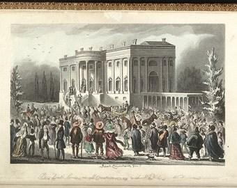 Inauguration of Andrew Jackson, March 4, 1829 Historical Print, USA President, American President Print, Political History Print, Wall Art