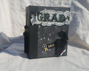 Graduation mini album, graduation scrapbook, graduation photo album, graduation gift, graduation memory album, graduate, graduate mini album