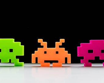 Space Invaders Magnets 3-Piece Set