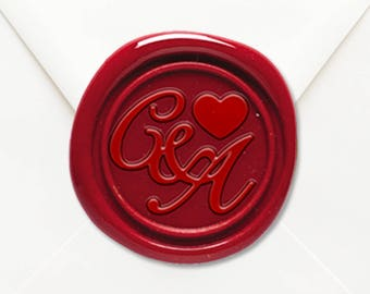 Personalised Faux Wax Seal Wedding Bomboniere Stickers
