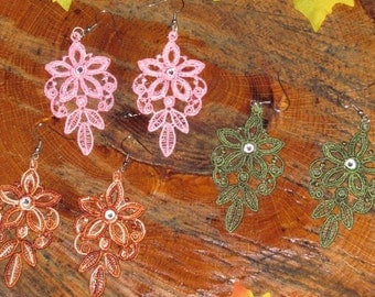 Jeannie Embroidered Earrings