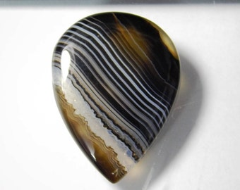 Black agate, Natural Banded Agate Cabochon, banded agate loose gemstone, banded agate gemstone, banded agate loose stone 57 Cts. #1010N