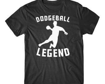 Dodgeball Legend Dodgeball Player Silhouette T-Shirt