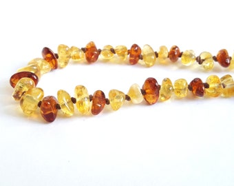 Natural baltic amber newborn necklace lemon cognac amber necklace baby polished amber teething necklace amber kids gift