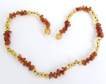 Best amber teething necklace for babies cognac lemon amber necklace toddler amber necklace for teething babies amber gifts for newborns