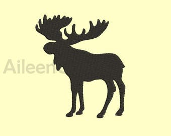Moose Embroidery design 8 Size 8 File INSTANT download machine embroidery