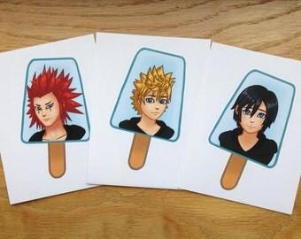 Kingdom Hearts - Clocktower Trio Sticker Set