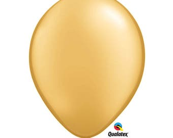 "Gold Latex balloon, Giant Gold Balloon, Gold balloons 5"", 11"",  16"" or 30"", long gold balloon. link balloon gold. Golden Latex Balloon"