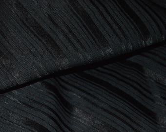 "Black Striped Double Sided Scuba Knit Fabric 44W"" Wide"