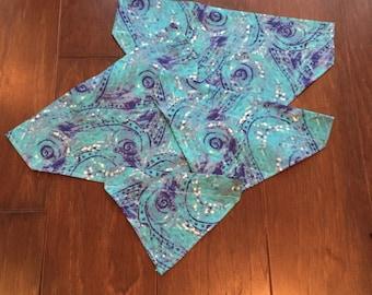 Blue Swirl Over the Collar Bandana