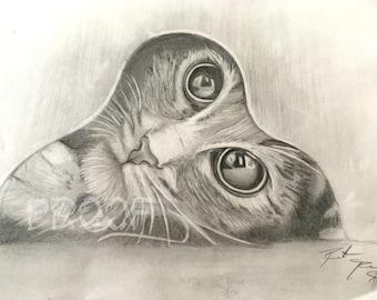 Playful Kitten Print