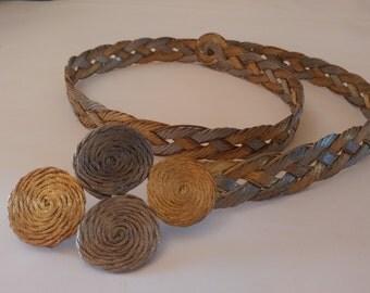 Vintage woven metal belt