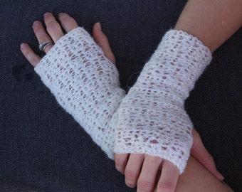 Crochet Lacy Fingerless Gloves