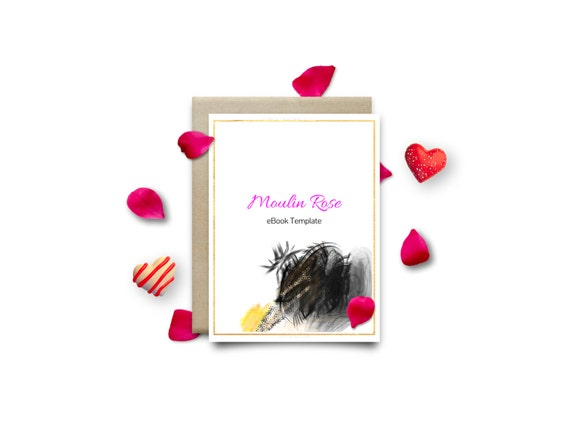 MOULIN Rose | Feminine | Customizable | eBook Template | Google Docs / Windows Word DOCX / Mac Pages / A4 / Letter Available