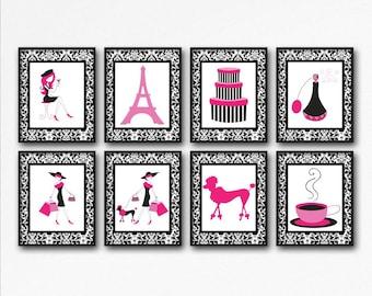 Paris Wall Decor Pink Wall Decor | Etsy
