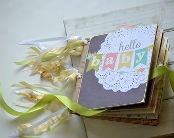 SALE Neutral Baby Photo Album Newborn Photo Album Baby Shower Gift Scrapbook Memory Book Made To Order
