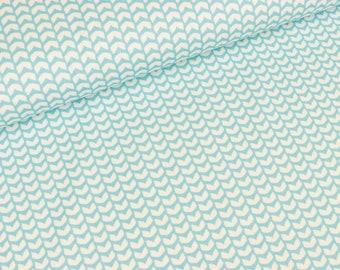 Cotton Jersey mini fin shirt Aqua by Purple lotta (16,50 EUR / meter)