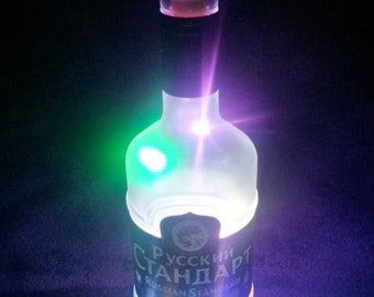 Russian Standard Upcycled Vodka Battery Powered Multicoloured LED Light Lamp (70cl)