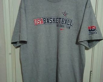 Nike Vintage NBA USA Basketball team t-shirt sz XL