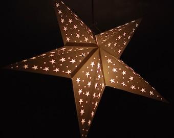 White Star lantern with LED battery light