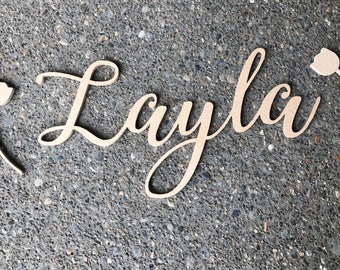 Unfinished wooden letters; DIY; Sanded, ready to stain or paint