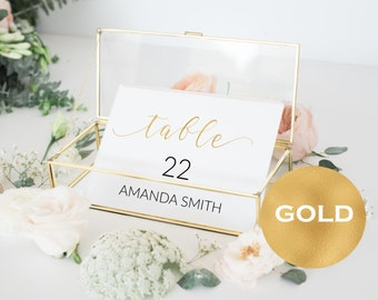 Table Numbers Printable - Wedding Printable -  Wedding Table Numbers  - Gold Table Numbers - Wedding Downloadable #WDH0160