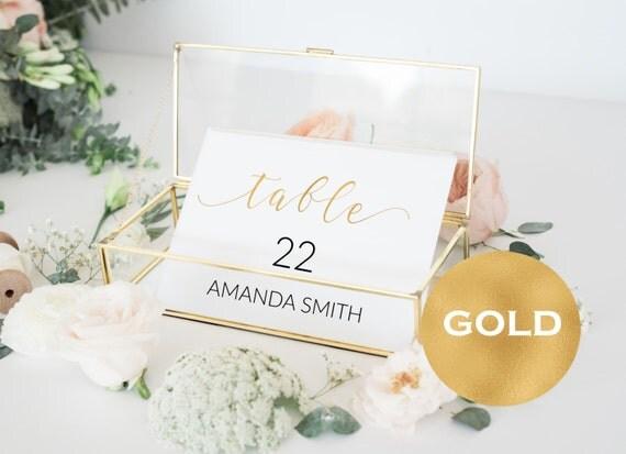 Table Numbers Printable - Wedding Printable -  Wedding Table Numbers  - Gold Table Numbers - Wedding Downloadable #WDH0160