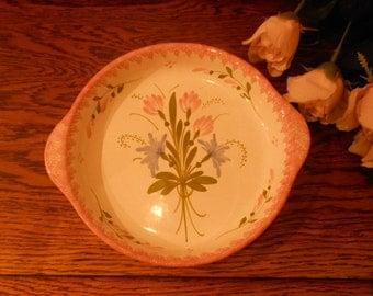 1980s pretty Vintage Quimper Pottery Dish