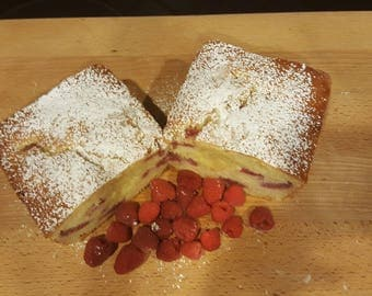 White Chocolate Raspberry Bread, Large Loaf ,