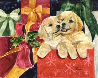 Golden Retriever Holiday Greeting Cards