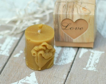 small Raider candles, natural pefect gift, nice smelt from beeswax, meditation and relaxation gift, home décor, no toxic air purrify