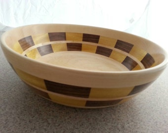 Segmented wooden bowl #803,salad bowl,wedding gift,