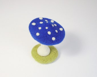 Saucy mushroom of hand-felted luck, fly agaric, felted