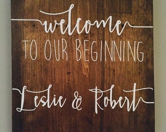 Customized Welcome Sign - New Beginning/Home/Wedding/Adventure