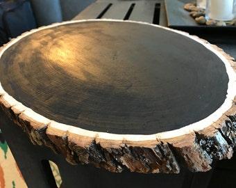 Chalkboard Log Slice