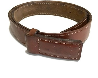 Vintage Distressed Leather Belt , Rocker Belt