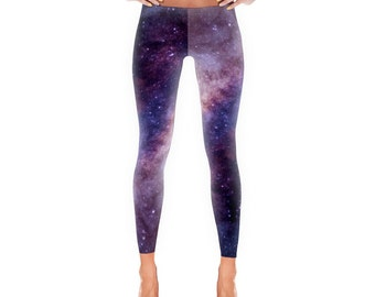 Purple Galaxy - Leggings, Space, Stars