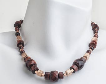 Gorgeous faceted Tigereye LAINE HOADLEY necklace