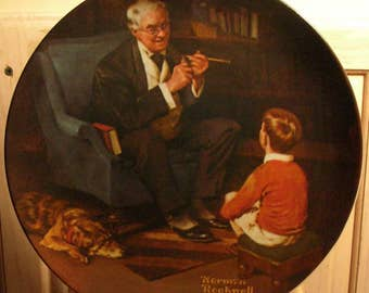 "Collector Plate - Norman Rockwell -  ""The Tycoon"""