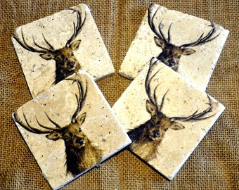 Stag Natural Stone Coaster
