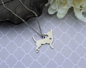 Chihuahua necklace, pet necklace, chihuahua jewelry, silver chihuaua necklace, dog necklace, pet memorial necklace