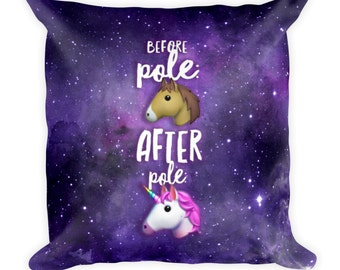 Pole Transformation Galaxy Square Throw Pillow - Pole Room Decor - 18×18