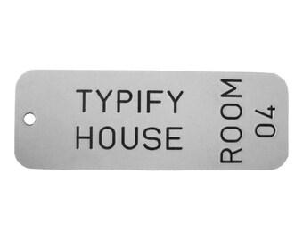 Basic Custom Engraved Room Keyring